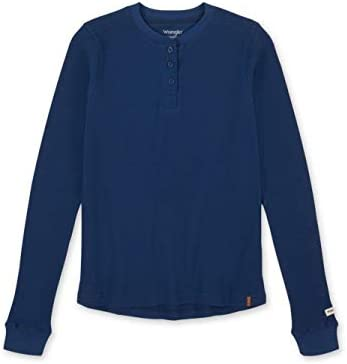 Wrangler Riggs Workwear Women s Long Sleeve Thermal Henley Blue Depths Medium product image