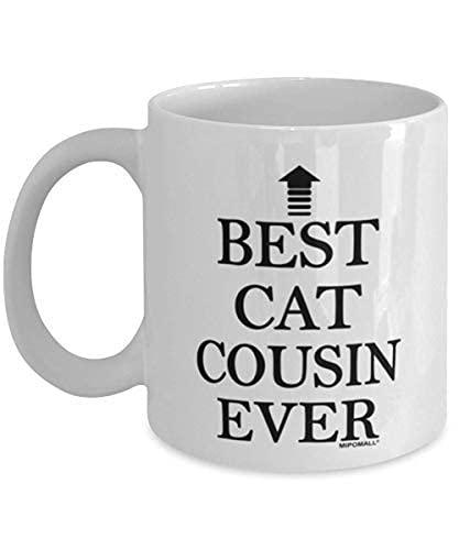 N\A Taza Cat Cousins - Cat Cousin - El Mejor Gato Primo de Todos los Tiempos - Tazas de café - wmA671