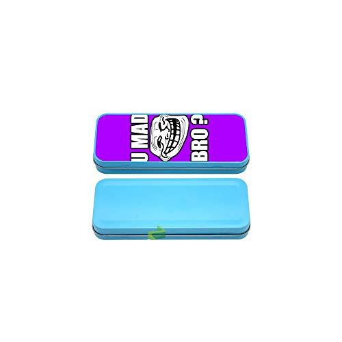 Générique Boite à Crayon u mad Bro. Fond Violet - Bleu