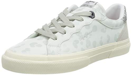 Pepe Jeans London Damen Kenton Classic Woman White Sneaker, 800WHITE, 40 EU