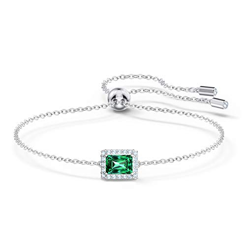 Swarovski Angelic Rectangular Armband, Rhodiniertes Schmuckstück mit Klaren Swarovski Kristallen