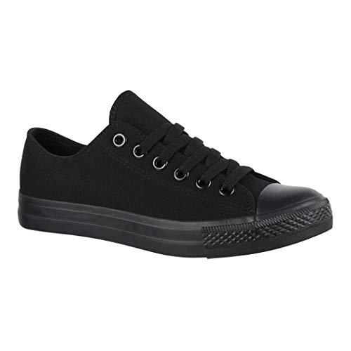 Jumex Unisex Sneaker Textil Turnschuh Low top Chunkyrayan 36-46 ZY9032-Black-43P