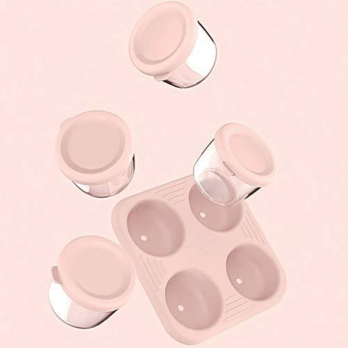 Baby-Frischhaltedose Glas Aufbewahrung Luftdicht Tragbare Ergänzende Lebensmittelbox Glas Gefrierbox Box Unterverpackungsbox Tragbar 4-Tlg