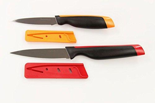 TUPPERWARE Xpert mes universele serie groentemessen oranje + universeel mes rood 30438