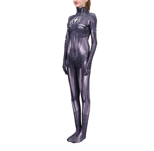 Hcxbb-b Spiderman-avondjurk, volwassenen/kinderen anime-prestaties kostuum, zwarte vrouw Spider-Man panty Cosplay