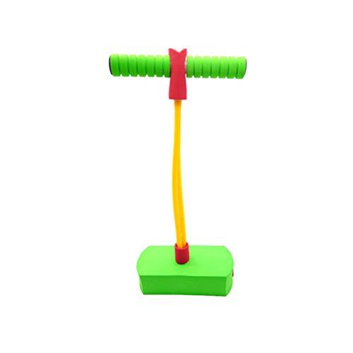 STOBOK Pogostick Schaum Hüpfstab für Kinder Erwachsene Mädchen und Jungen (grün)