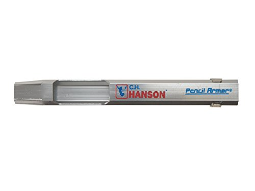 C.H. Hanson 6.8 in. L x 4.8 in. W Pencil Armor Silver Metal)