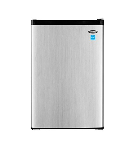 Danby 4.5 cu. ft. Compact Refrigerator with True Freezer (DCR045B1BSLDB-3), Steel