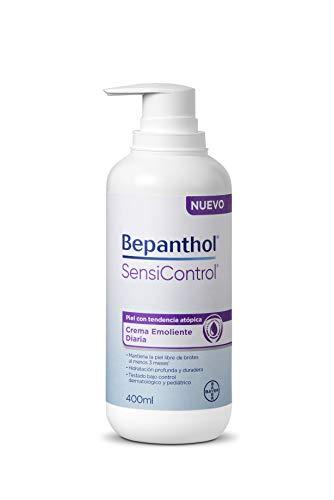 Bepanthol SensiControl Crema Emoliente Diaria con Pro-Vitamina B5 para Piel Atópica, Favorece una Hidratación Profunda y Duradera una Piel Sana y Protegida, 400 ml