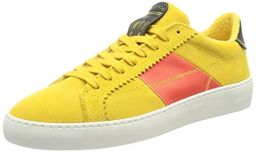 SCOTCH & SODA FOOTWEAR PLAKKA, Zapatillas Hombre, Amarillo Multicolor, 44 EU
