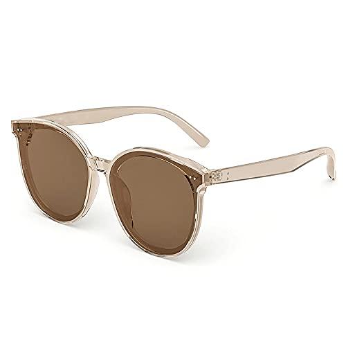Gafas De Sol para Hombre,Gafas De Sol para Mujer Gafas De Sol para Mujer para Mostrar La Cara, Pequeña Protección UV, Gafas De Sol De Nailon para Exteriores para Conducir, Moda Gratis