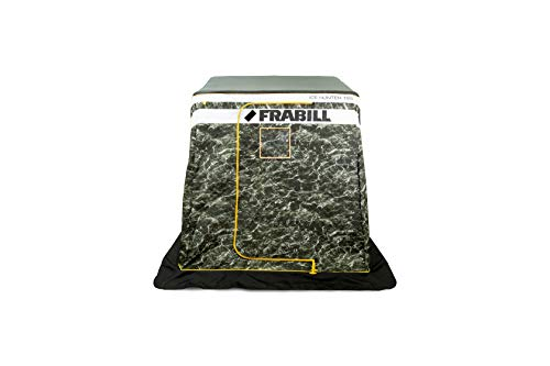 Ice Hunter Front Door 195   Insulated Ice Fishing Flip Over Shelter with Boat Seats, FRBSH195