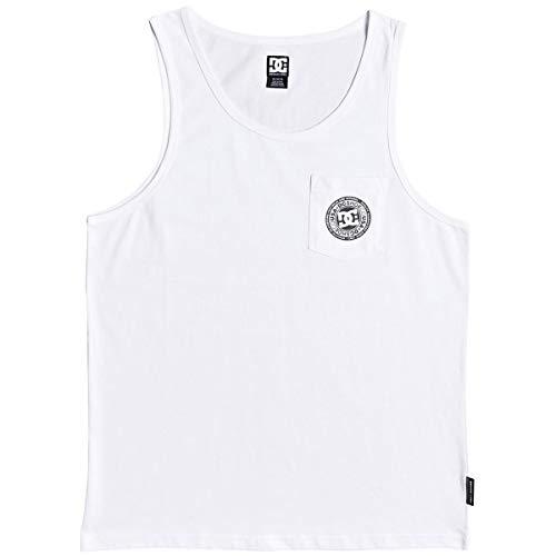 DC Men's Pocket Tank, White, M