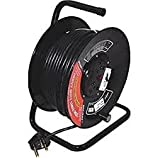 Brilliant 25 m 3 Core 1.5 mm Extension Drum Cable with 2 15A Socket, Switch and Indicator
