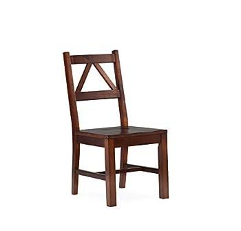 Linon Home Decor Titian Chair Antique Tobacco Finish