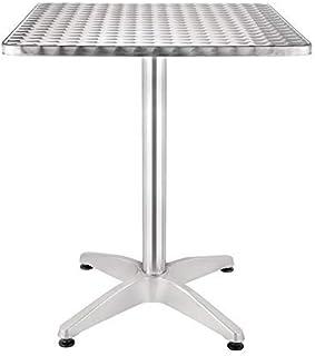 Table de bistro carrée avec pied - 600 mm