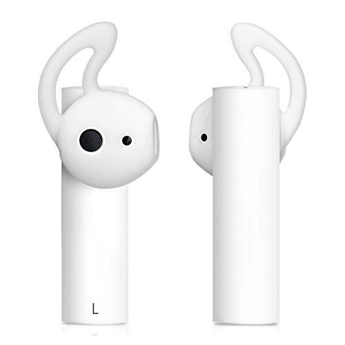 kwmobile 6X Funda de Silicona Compatible con Xiaomi AirDots Pro 2 - Protector para Auriculares en Blanco