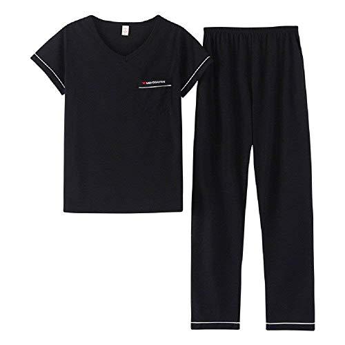 Kan worden gedragen pyjama's heren broek zomer korte mouwen boom casual jongens chic thuis service sport pak pyjama