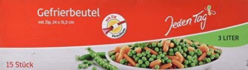 Jeden Tag Gefrierbeutel mit Zip 3l, 15 Stück, 203 g, 217689