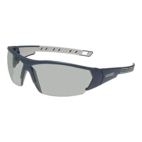 Uvex UX-OO-Works_S I-Works Schutzbrille, Grau/Stahlblau, Uni Größe, 1 Stück