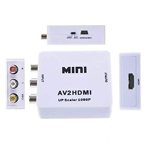 Mini Adaptador Conversor de HDMI para Video Composto 3 RCA Av - M6628