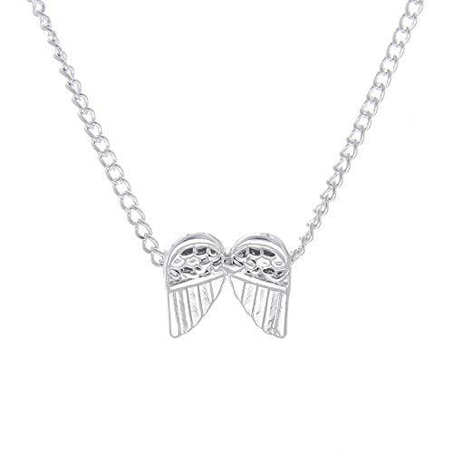 HCHL Trenzado Las Mujeres de Moda de imitación de Perlas de Diamantes de imitación Pendientes de botón Colgante Collar Conjunto Regalo Regalo Novia Collar Fiesta Regalo del día de la Madre Ajustable