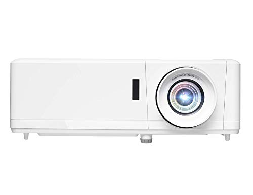 Optoma Projetor de Home Theater a laser HZ39HDR com HDR | Entrada 4K | 4000 lúmens | Operação confiável sem lâmpada 30.000 horas | Fácil configuração com zoom de 1.3x | Operação silenciosa 32dB | Compatível com Crestron, Branco