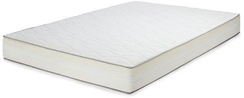 Amazon Basics con Schiuma, Poliuretano, Bianco, 140 x 190 cm