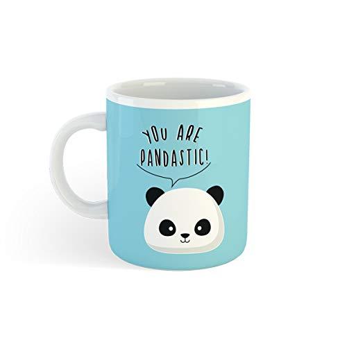 I-Total - Tazze da caffè in Ceramica 300 ml (Panda)