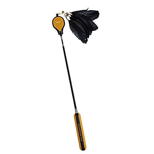 FairOnly Schaalbare Veer Paal Kat Teaser Lange Handvat Interactieve Huisdier Grappig Speelgoed Creatieve Huisdier Producten, Kastanje oranje
