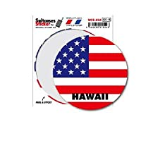WFS-024 HAWAII ハワイ 国旗ステッカー サークル スーツケースステッカー
