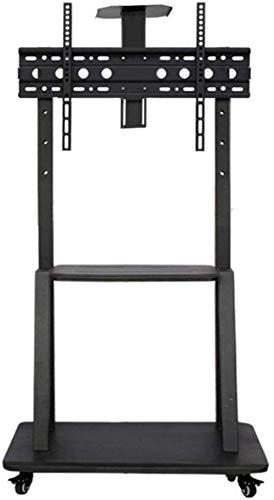 N/Z Inicio Equipamiento Mesa giratoria Soporte para TV Soporte de Piso para TV pequeño de Acero Inoxidable para televisores de 32 70 Pulgadas Soporte de Piso para TV Negro con Ruedas LED con Ruedas U