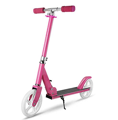 Read About JBHURF Adult Pedal Scooter Second Round Student Shock Scooter Folding Scooter Durable Alu...