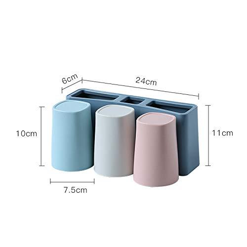 WZNB Aan de muur gemonteerde tandenborstelhouder wasset aan de muur gemonteerde zuignap mondwater badkamer gratis punch tandpasta doos