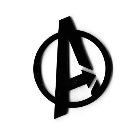 The Logo Man Avengers Black 3D Emblem Decal Mobile Phone Sticker Logo for Laptop (Black)