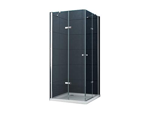 La entrada en curva Cabina de ducha Ducha Monett 80 x 80 x 200 cm / 8 mm / con plato de ducha