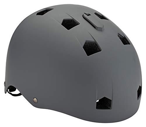 Mongoose BMX Bike Helmet, Multi Sport Kids Helmet, Grey