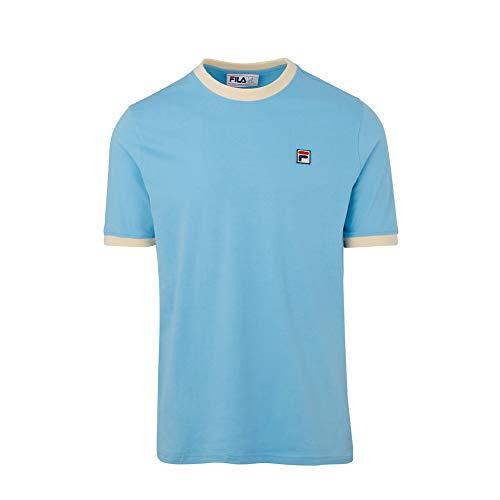 Fila Essential - Maglietta vintage da uomo, colore: Bianco Air Blue S