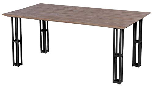 Hartman Amsterdam Tower Tuintafel - L180xB100xH75 Cm - Natural Old Teak - Carbon Black Frame