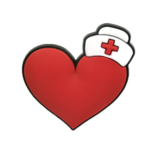 Pin Zuecos Chanclas Charm | Diseño Unisex Corazón Enfermera crocs