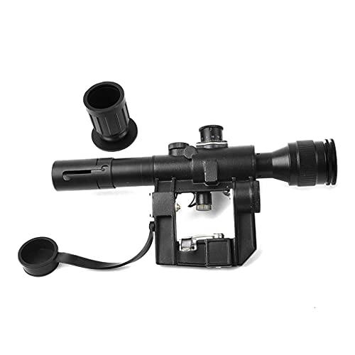 AJDGL Mira telescópica Tipo 4x26 con iluminación roja táctica, mira de Rifle de Francotirador SVD para Disparos de Caza