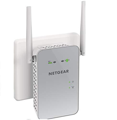 Netgear EX6150 Ripetitore WiFi Wireless, Copertura per 2-3 stanze e 10 dispositivi, 1200 Mbps, funziona con modem fibra e adsl