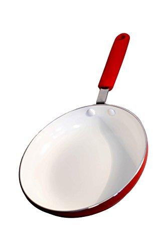 Mayestic-Padella in Ceramica e Alluminio 24cm Rosso