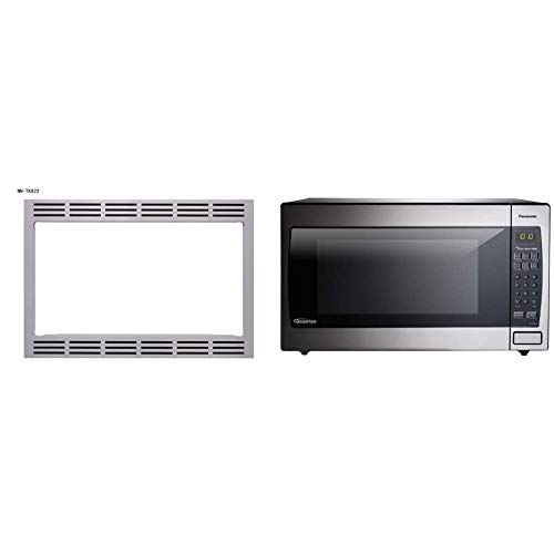 Panasonic 27 TRIM KIT, 27 inch, Silver & Microwave Oven NN-SN966S Stainless Steel Countertop/Built-In with Inverter Technology and Genius Sensor, 2.2 Cubic Foot, 1250W