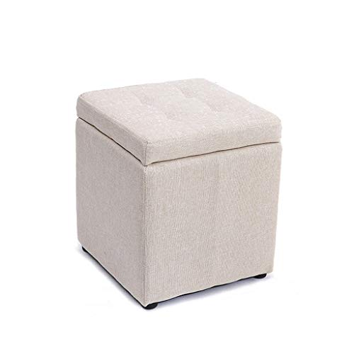 LJZslhei Hocker Kreative Multifunktionale Lagerung Hocker Mode Wohnzimmer Sofa Hocker (Color : White)