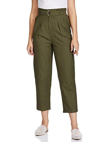 Max Women's Chino Regular Pants (SP21FBTM05_Olive Green_M)