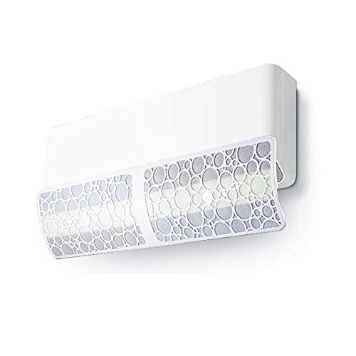 LYMHGHJ Deflettore del condizionatore d'Aria con Filtro Multistrato per impedire all'Aria Fredda di soffiare Dritto, ABS Leggero, Lunghezza Universale a Parete: 90 cm