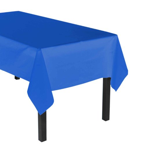 """Party Essentials Heavy Duty Plastic Table Cover Available in 44 Colors, 54"""" x 108"""", Royal Blue"""