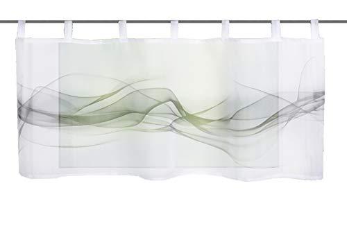 Home fashion HAZE, polyester, grijs, 45x120 cm