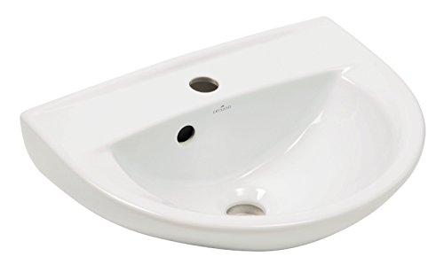 'aquaSu® 56776 3 Handwaschbecken Marta 45 cm, weiß